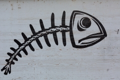 Tag poisson sur un mur