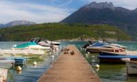 Canards sur un ponton (panoramique 7 photos) - Canon EOS 5D Mark III - EF 50 mm f/1,4 USM - ISO 100 - f/11 - 1/200 s