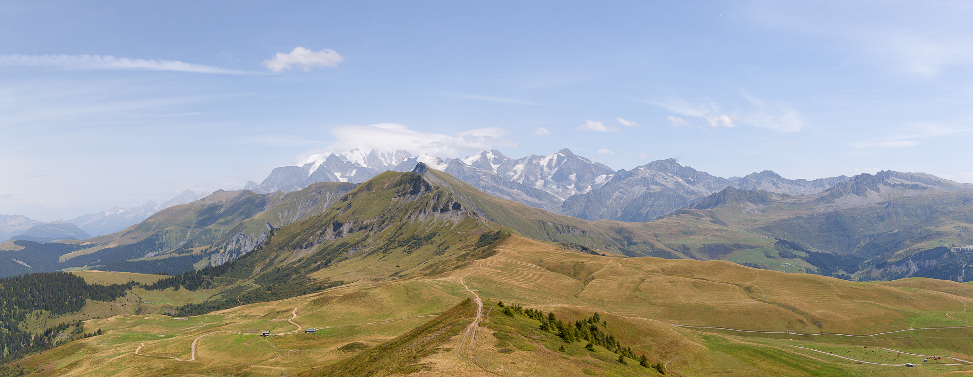 Mont-Blanc depuis la station des Saisies