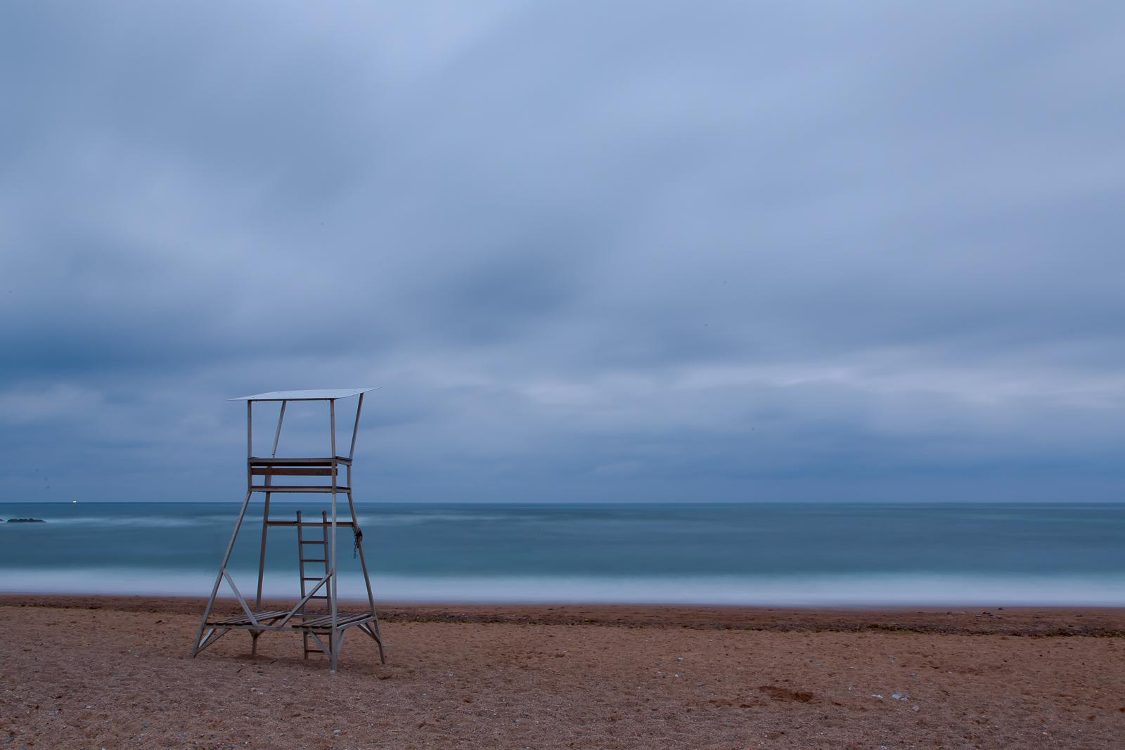 Plage déserte pays basque
