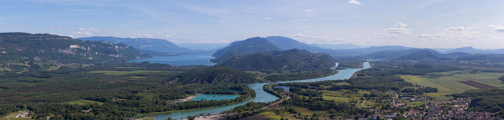 Panoramique du lac du Bourget