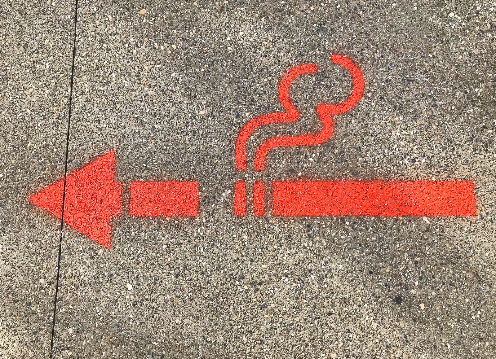 Signalétique zone fumeur