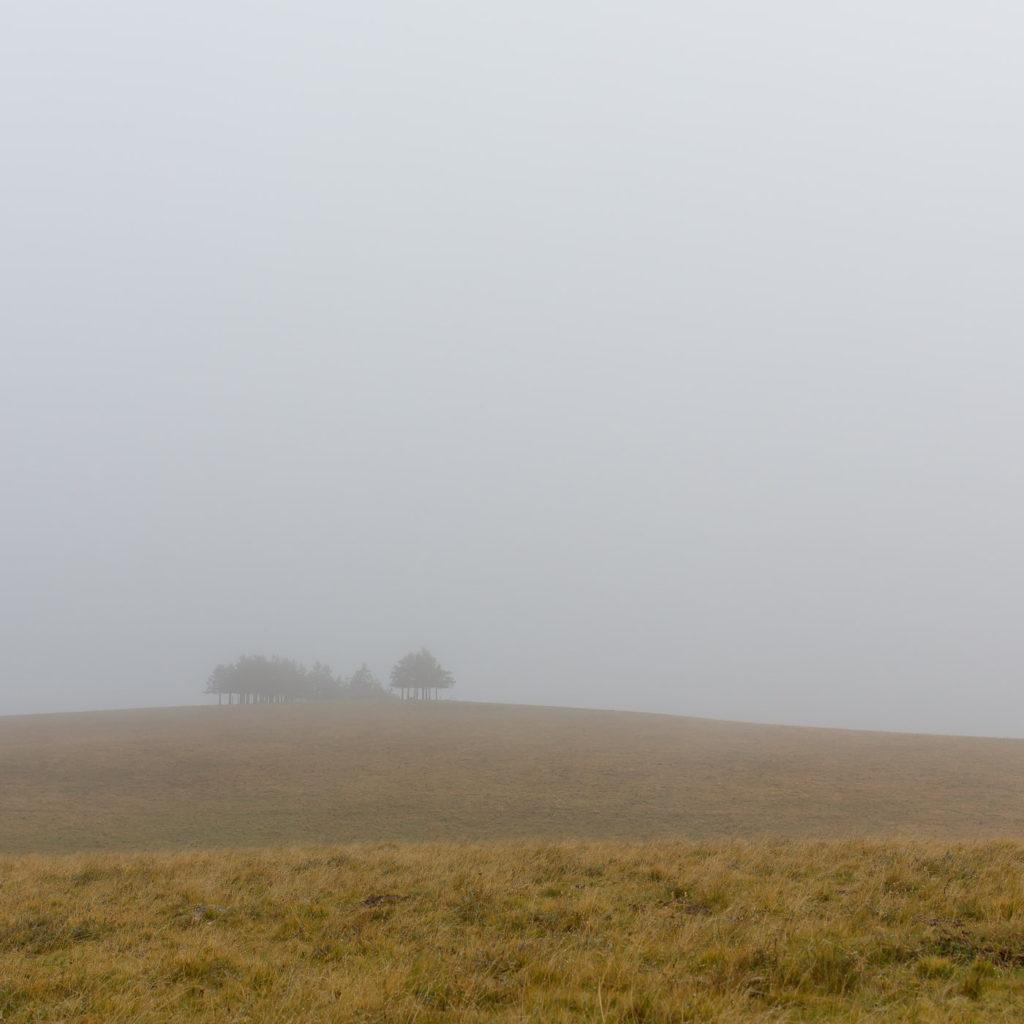 Randonnée en Aubrac - Paysage minimaliste de l'Aubrac