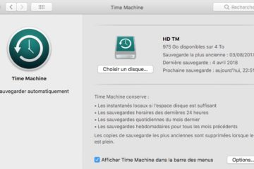 Sauvegarder ses photos avec Time Machine