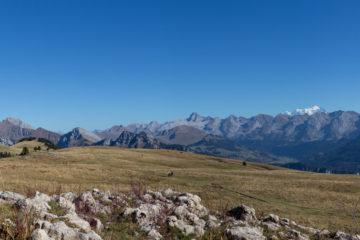 Panoramique du plateau des Glières