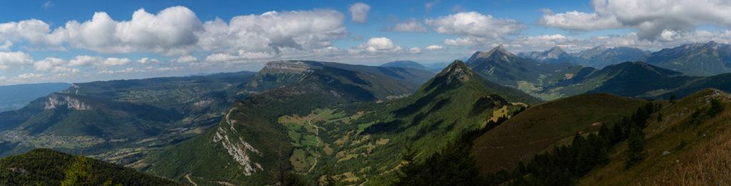 Panorama depuis la pointe de la Galoppaz
