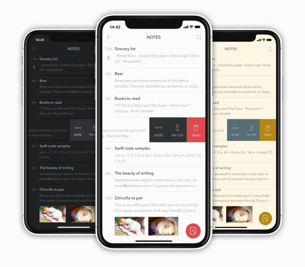 Les thèmes de l'application Bear