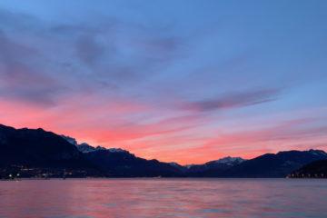 Projet 365 - Le lac d'Annecy au lever du jour