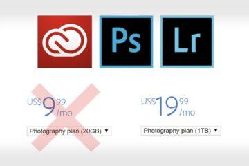 Adobe - Nouveau tarifs des abonnements Creative Cloud Photographie