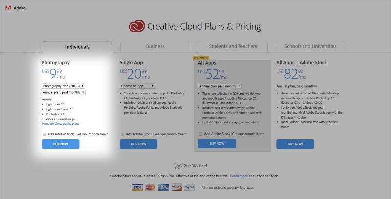 Ancien tarifs des abonnements Creative