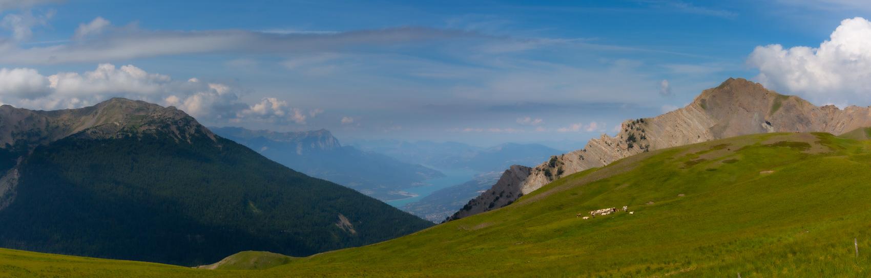 Panorama du lac de Serre-Ponçon