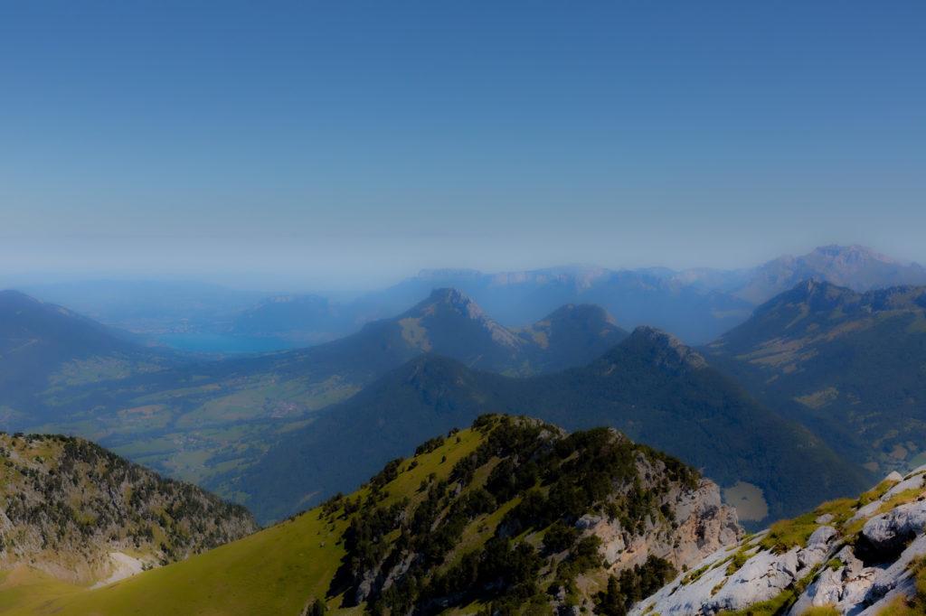 Le lac d'Annecy depuis le Mont Colombier