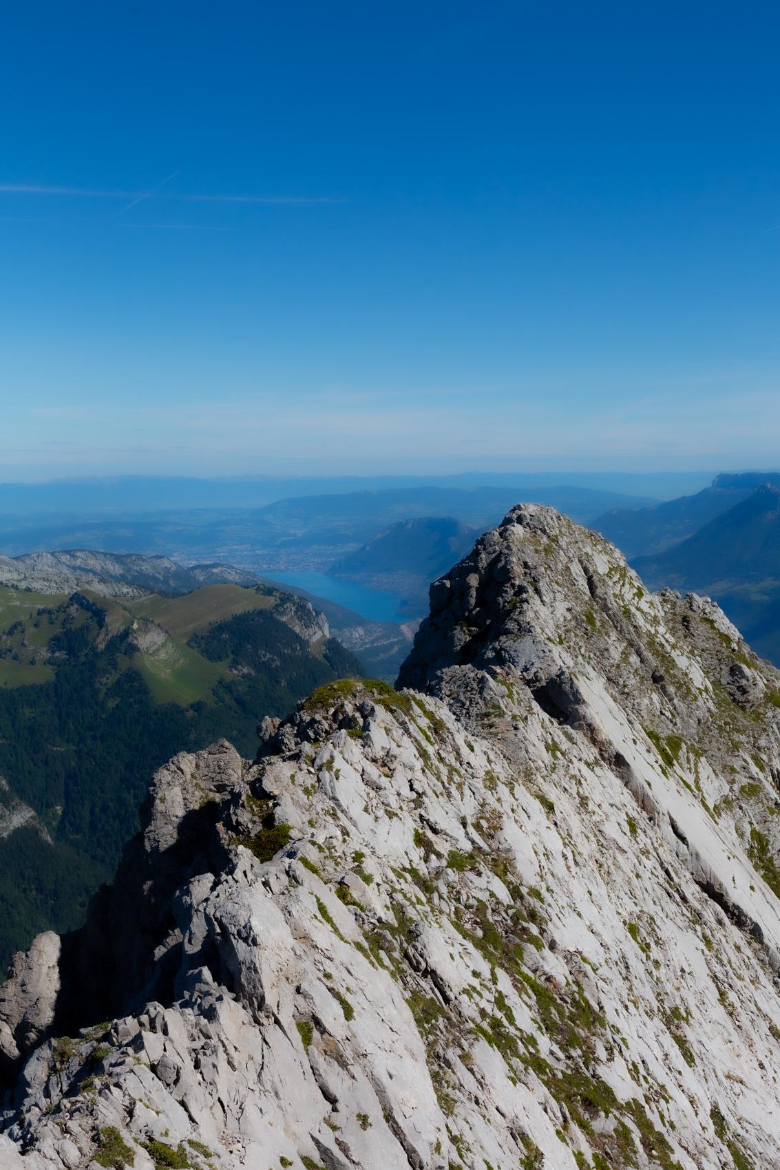 Le lac d'Annecy depuis l'Arcalod