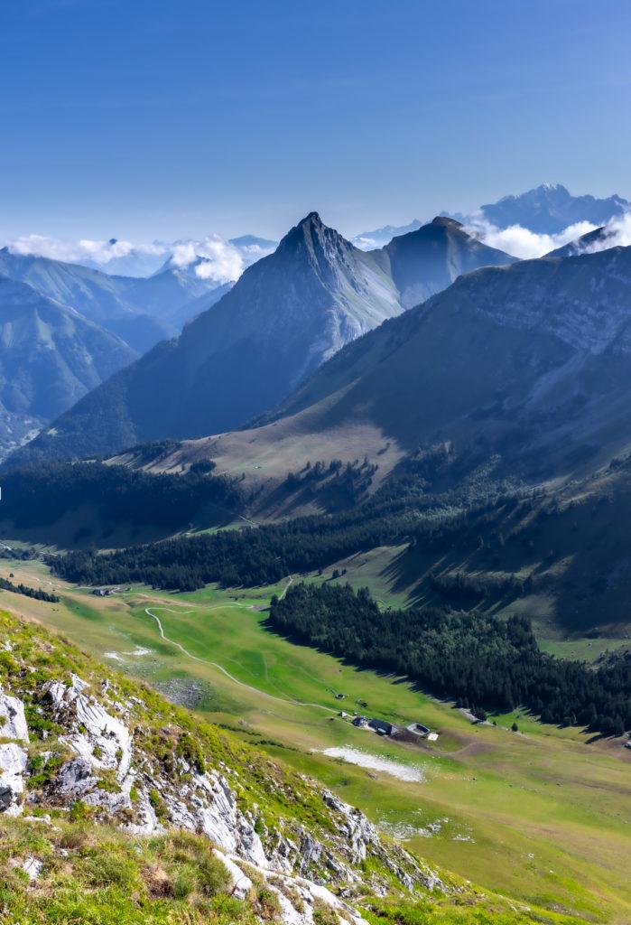 Panorama depuis le sommet de l'Arclusaz