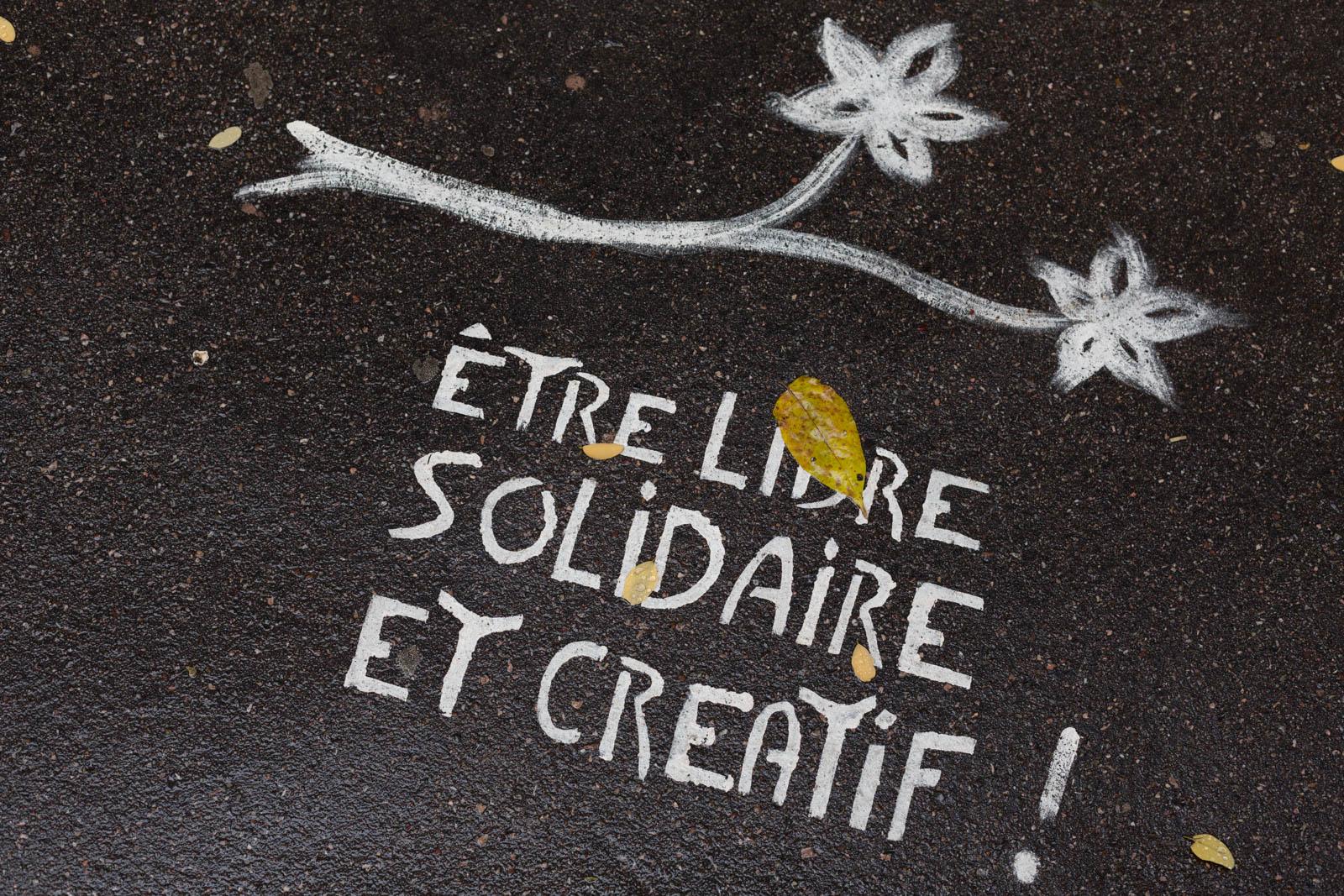 Etre libre solidaire et créatif