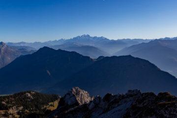 Le mont Blanc depuis la Sambuy