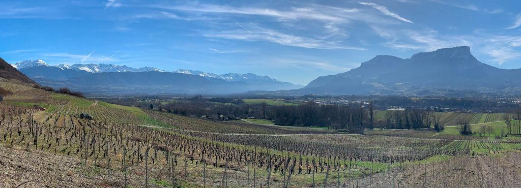 Panoramique chaine de Belledonne et mont Granier