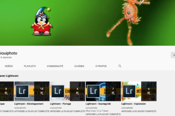 Chaine YouTube OuiOuiPhoto - formation Lightroom