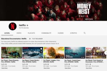Chaine YouTube de Netflix