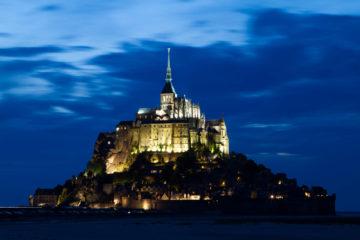 Projet 52 - Heure bleue et le Mont Saint-Michel