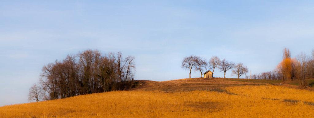 Projet 52 - Panoramique par assemblage paysage de campagne