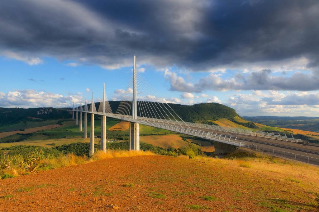 Projet photo 52 - Pont de Millau à l'heure dorée