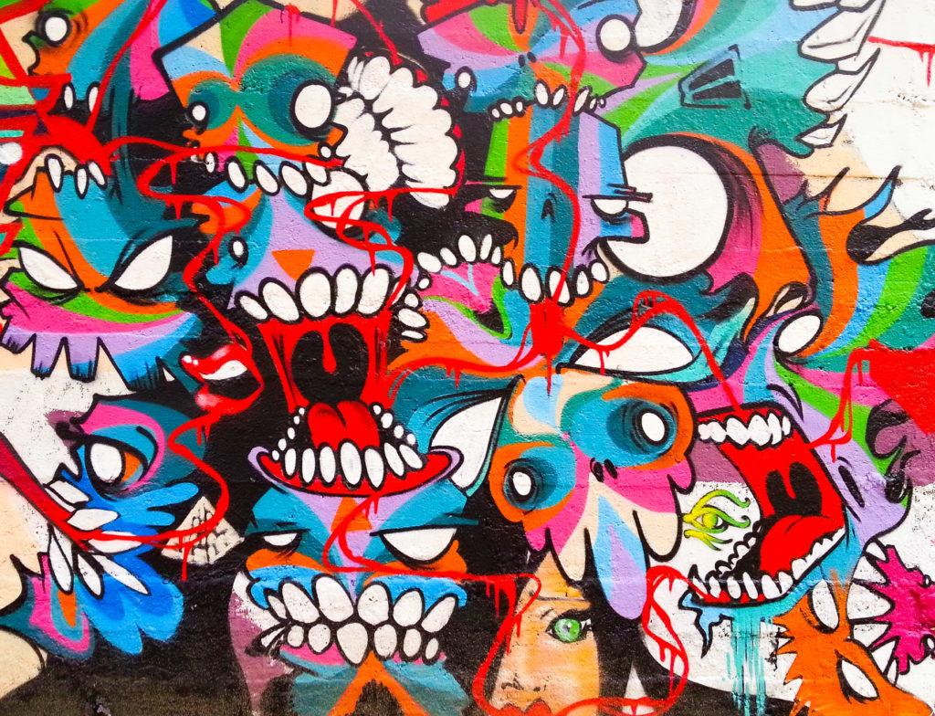 Tag sur les murs de Chambéry