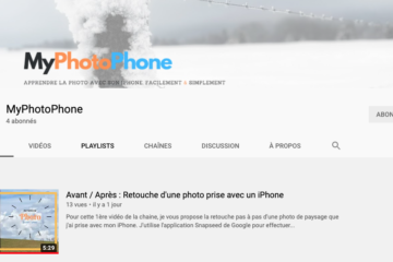 Chaine Youtube de MyPhotoPhone le blog du photographe sur iPhone