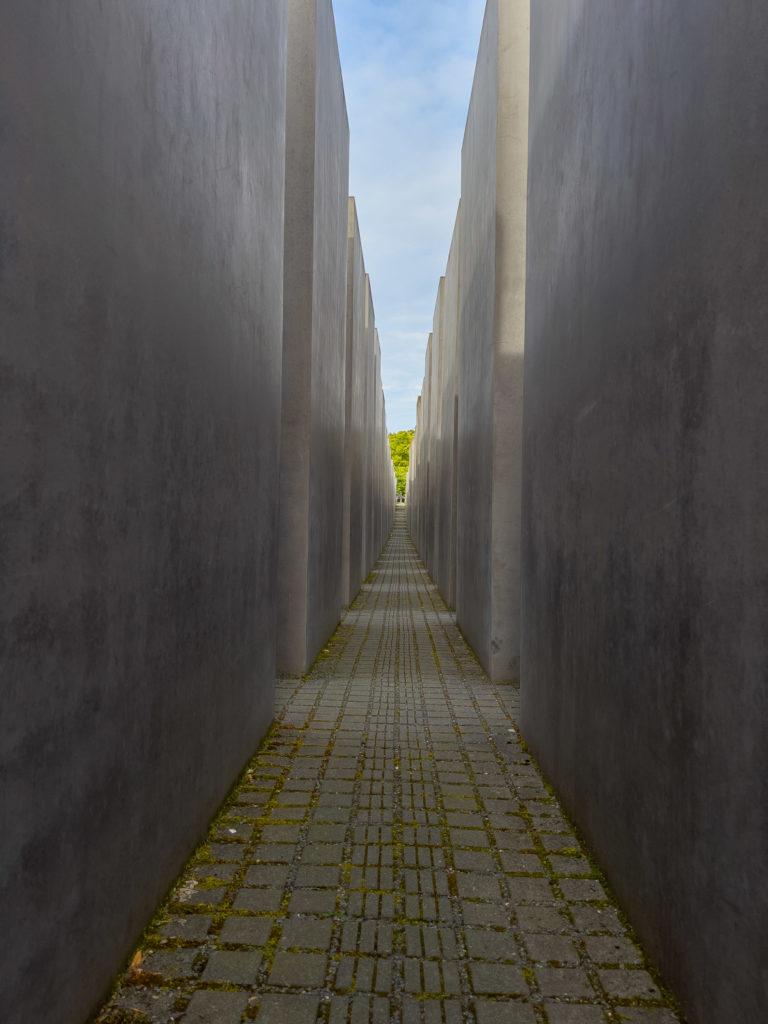 Stèles de béton du mémorial des juifs assassinés d'Europe