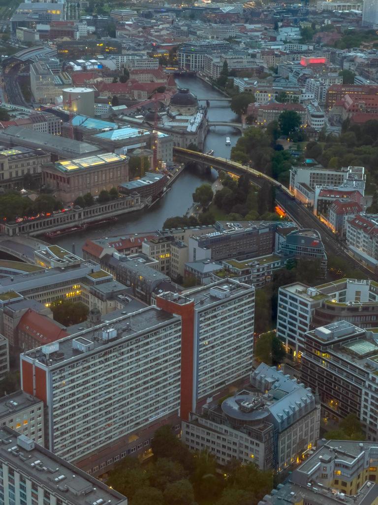 Vue de Berlin depuis la tour télévision